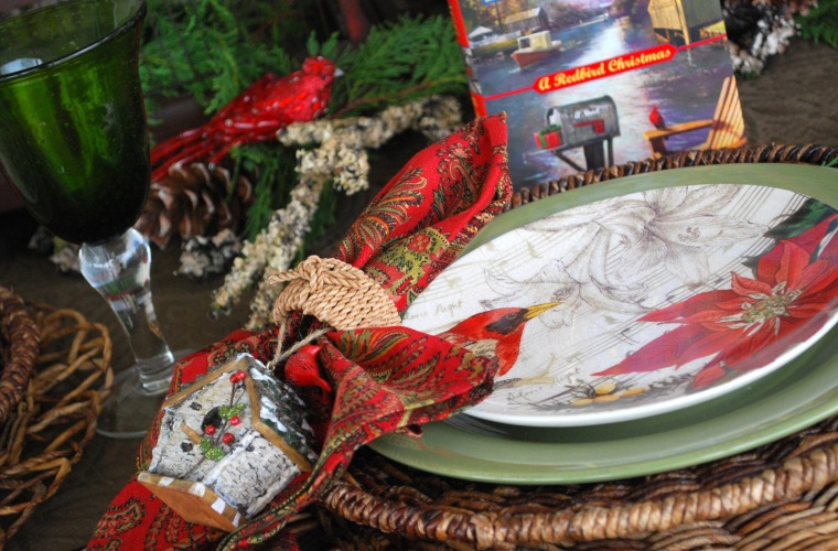so im also joining susan at between naps on the porch for tablescape thursday as part of this edible review - A Redbird Christmas