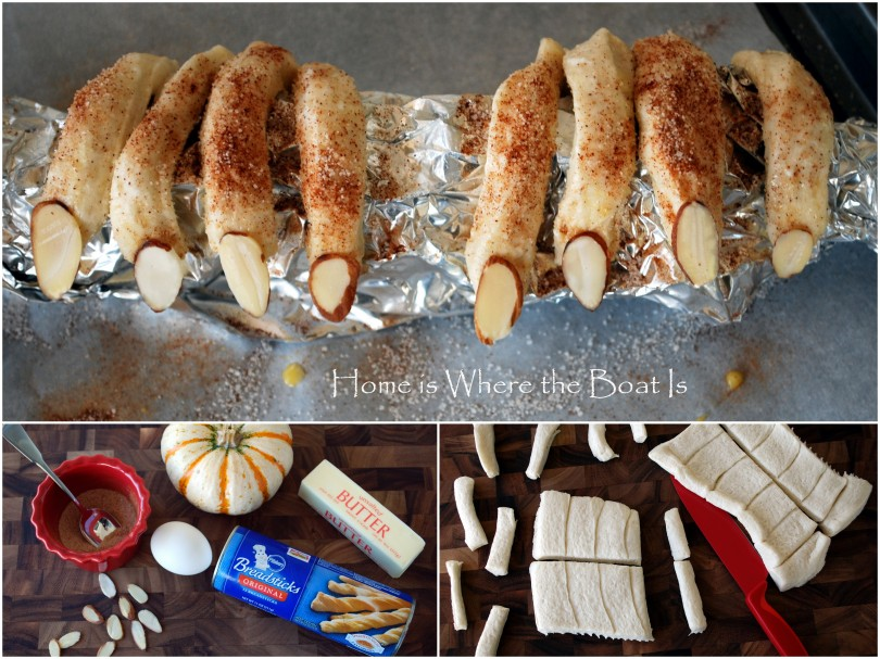 bread dough witch fingers