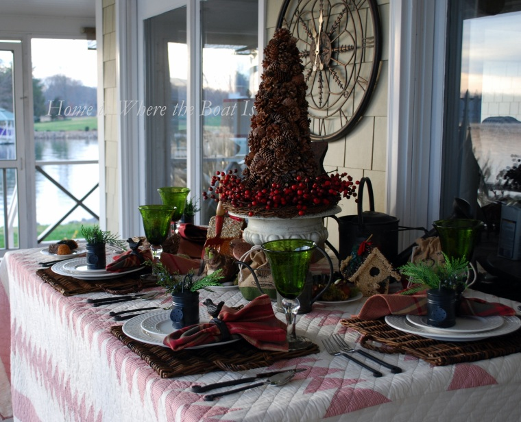 A Gardener S Christmas Tablescape Home Is Where The Boat Is