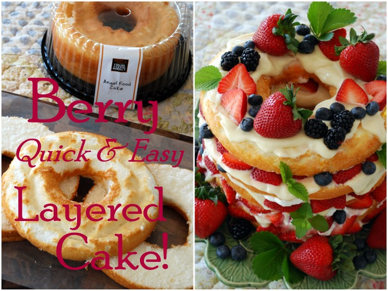 Berry quick easy layered cake home is where the boat is no recipe required for this cake forumfinder