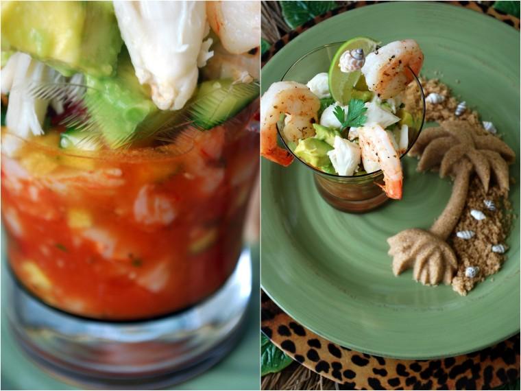 crab shrimp & avocado