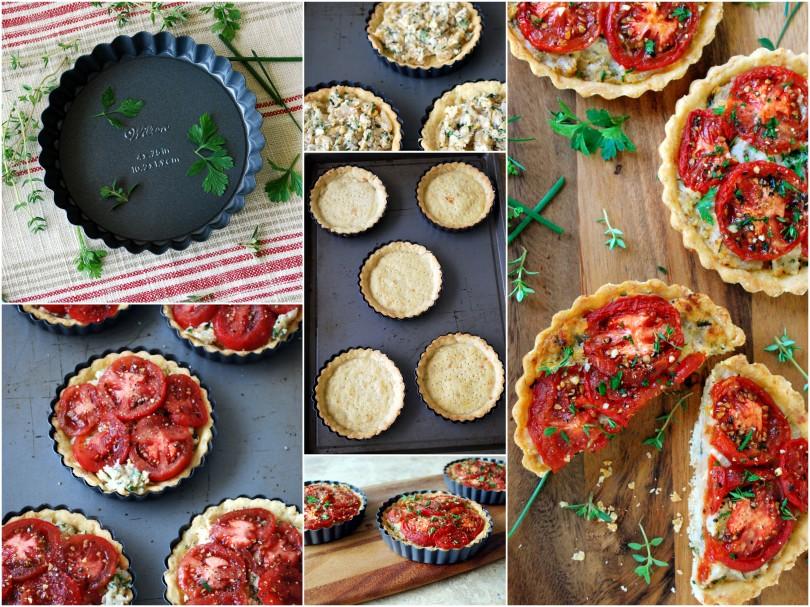 mini tomato pies