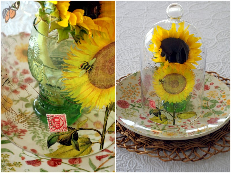 sunflower cloche