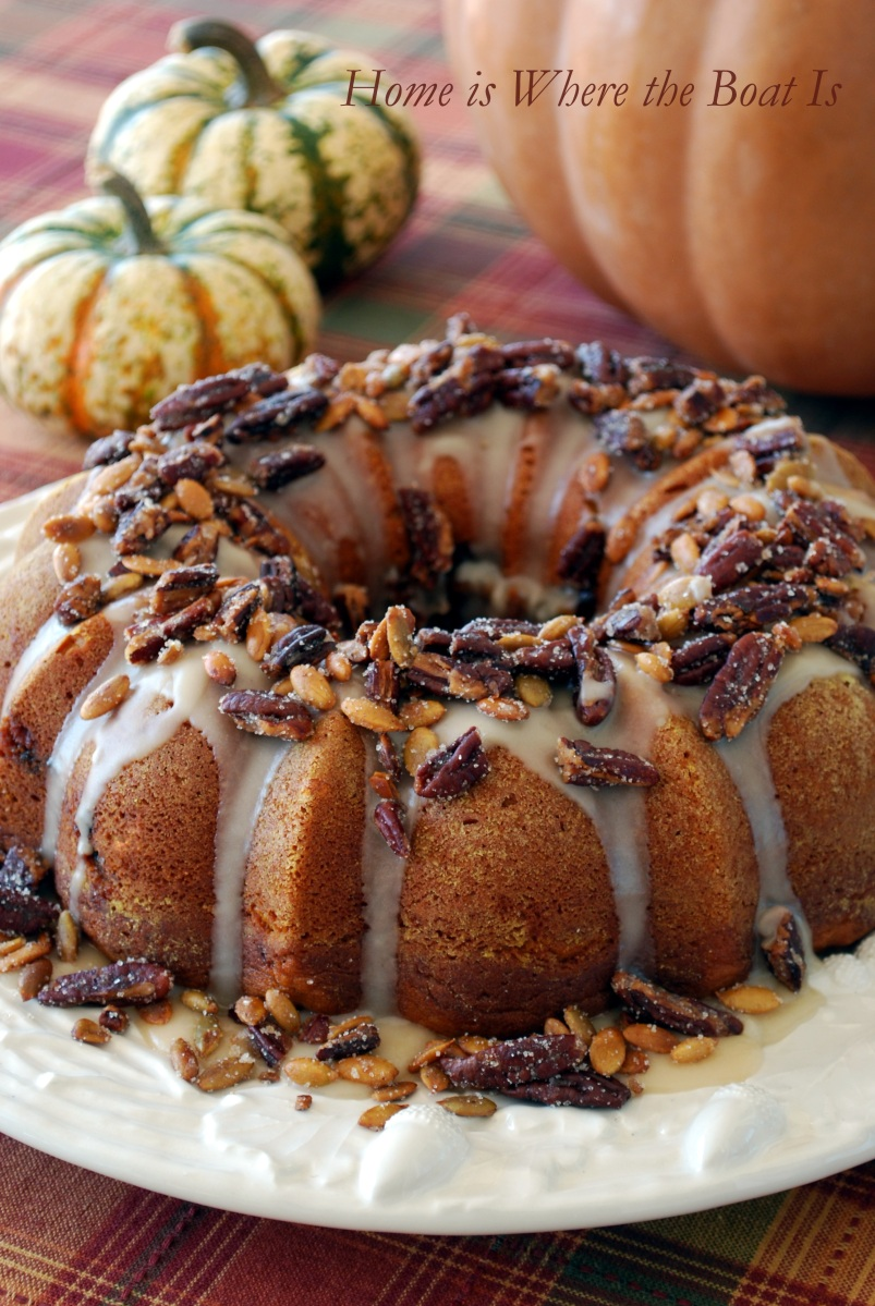 Cranberry Apple Pumpkin Bundt Cake