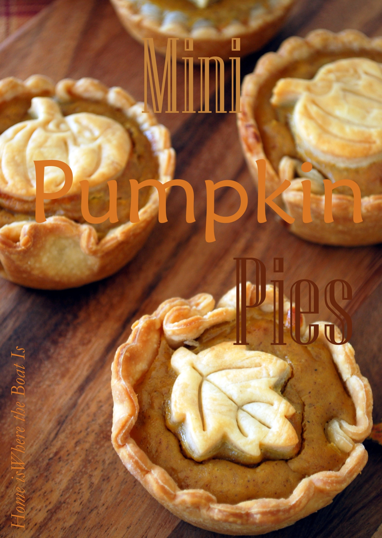 Mini Pumpkin Pies, by Home Is There the Boat Is