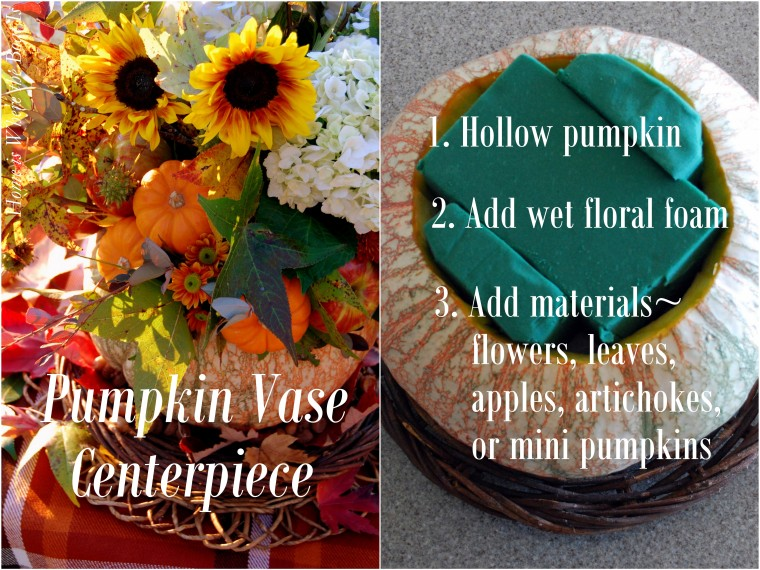 Pumpkin Vase Centerpiece