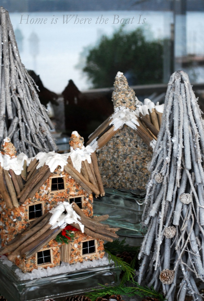 A Friendly and Snowy Village Winter Tablescape