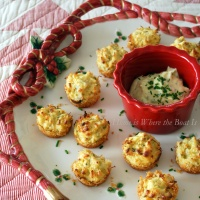 Parmesan-Crusted Crab Cake Bites and A Winner!