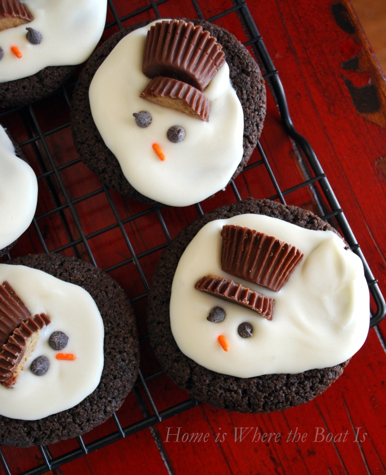 Melted Snowmen Cookies Home Is Where The Boat Is