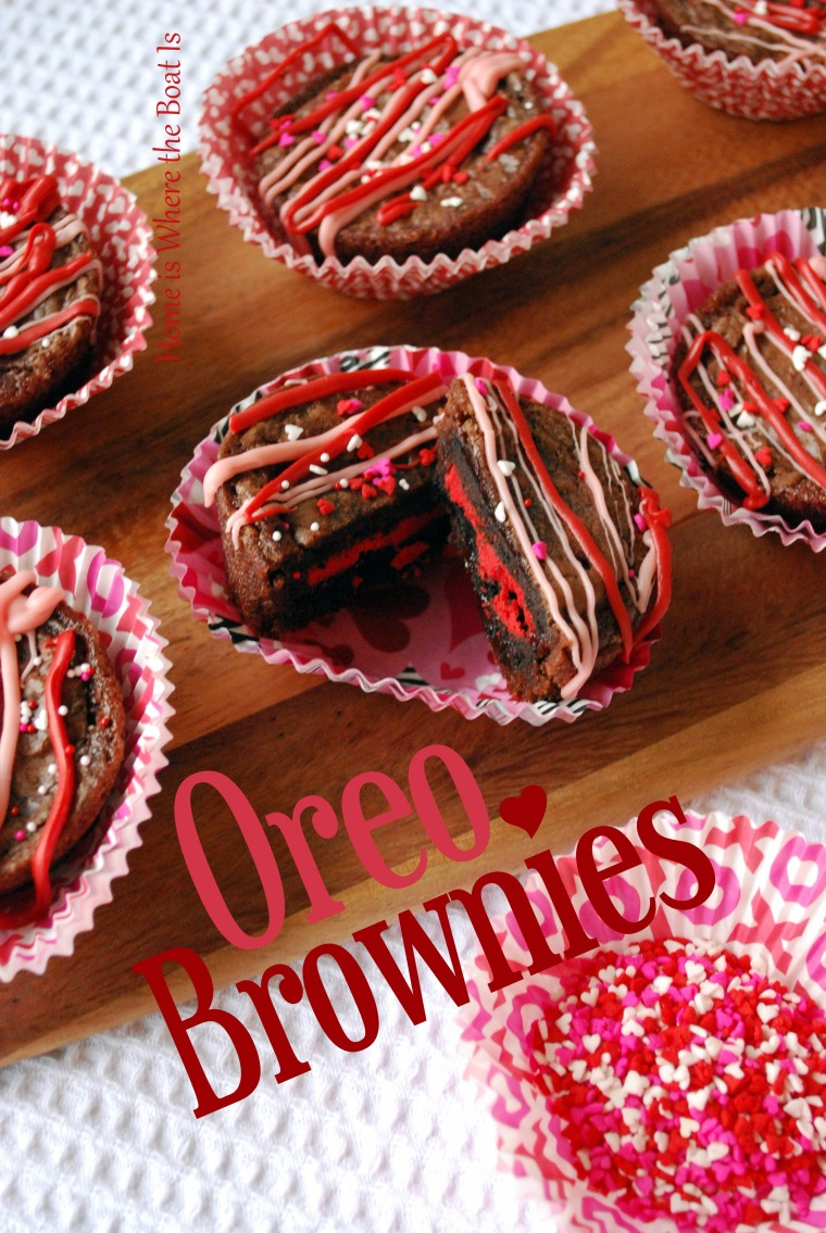 Valentine Oreo Brownies