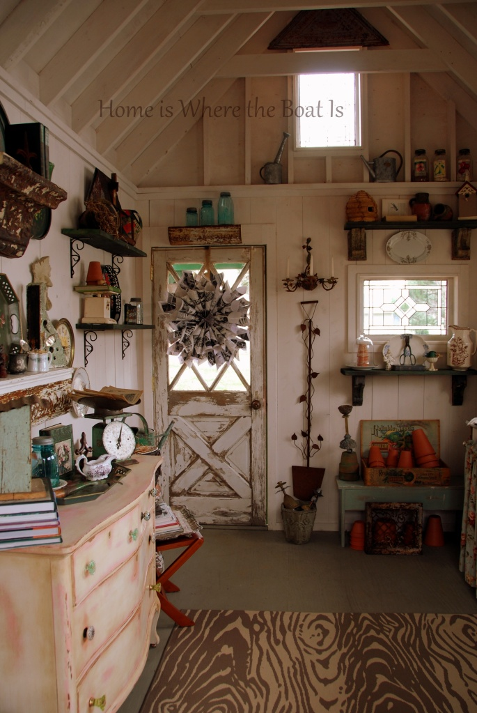 Interior Shed Decorating Ideas: Potting Shed Featured In She Sheds: A Room Of Your Own