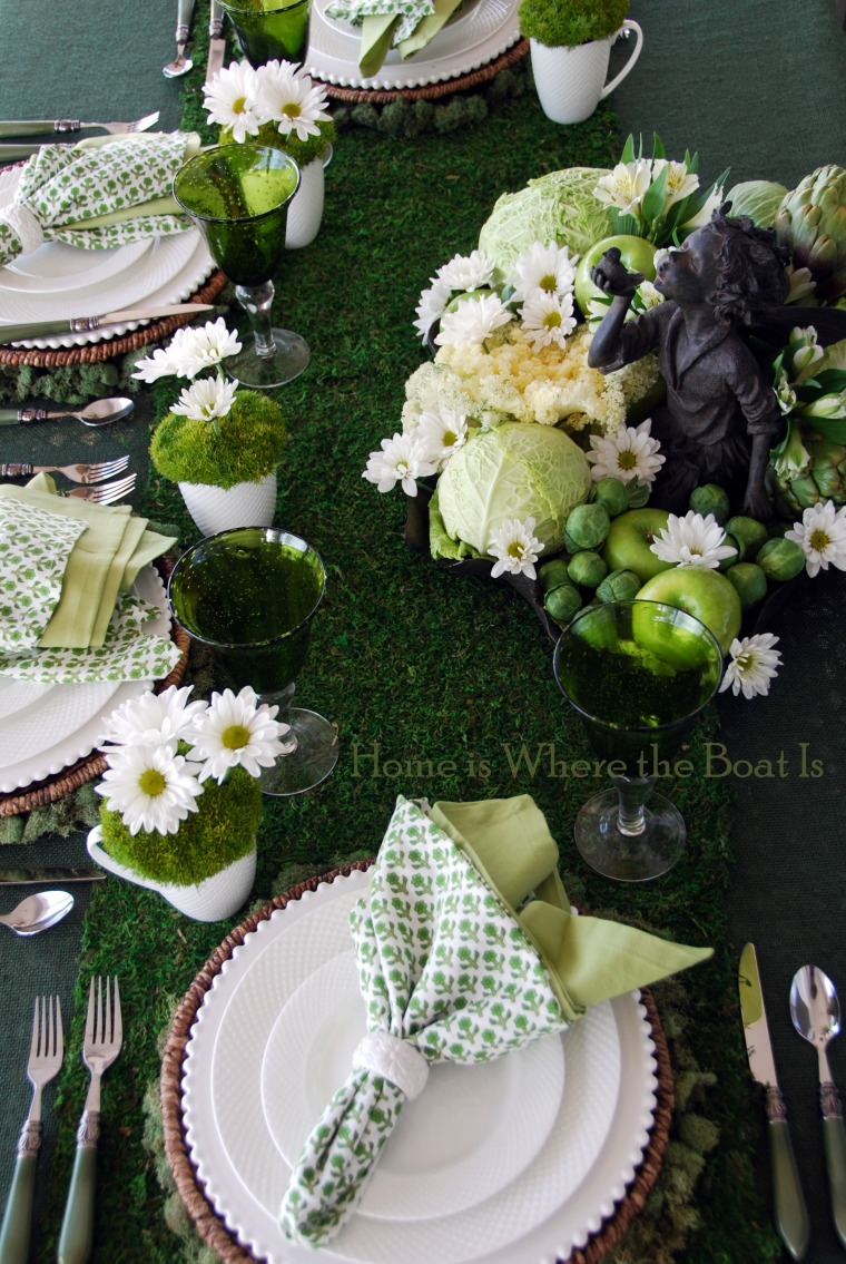 Irish Table Settings If You See A Fairy Ring And A Winner Home Is Where The Boat Is