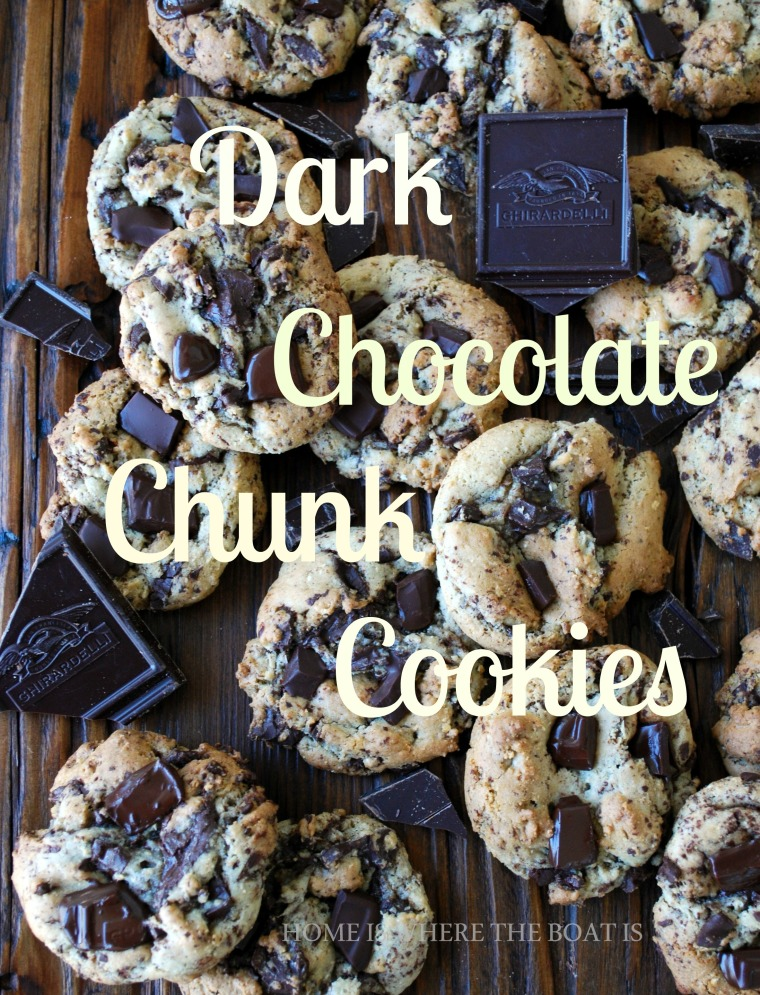 Dark Chocolate Chunk Cookies