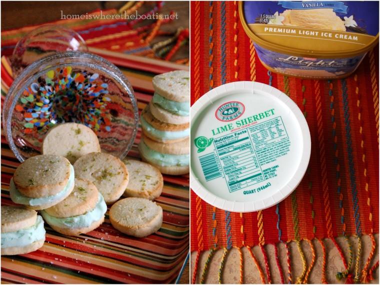 Margarita Ice Cream Sandwiches