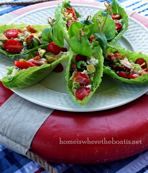 Cobb Salad Boats | Home is Where the Boat Is