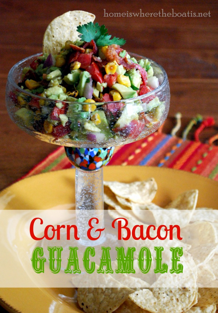 Corn & Bacon Guacamole