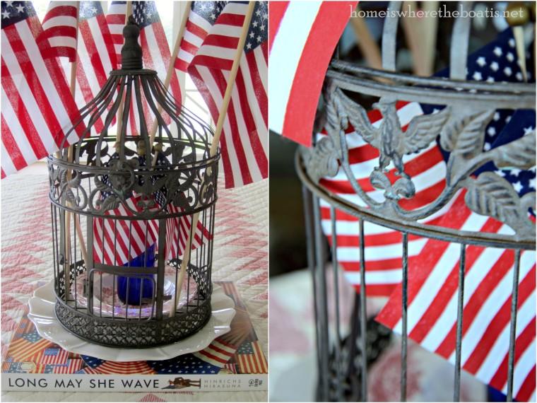 Eagle Birdcage & Flags