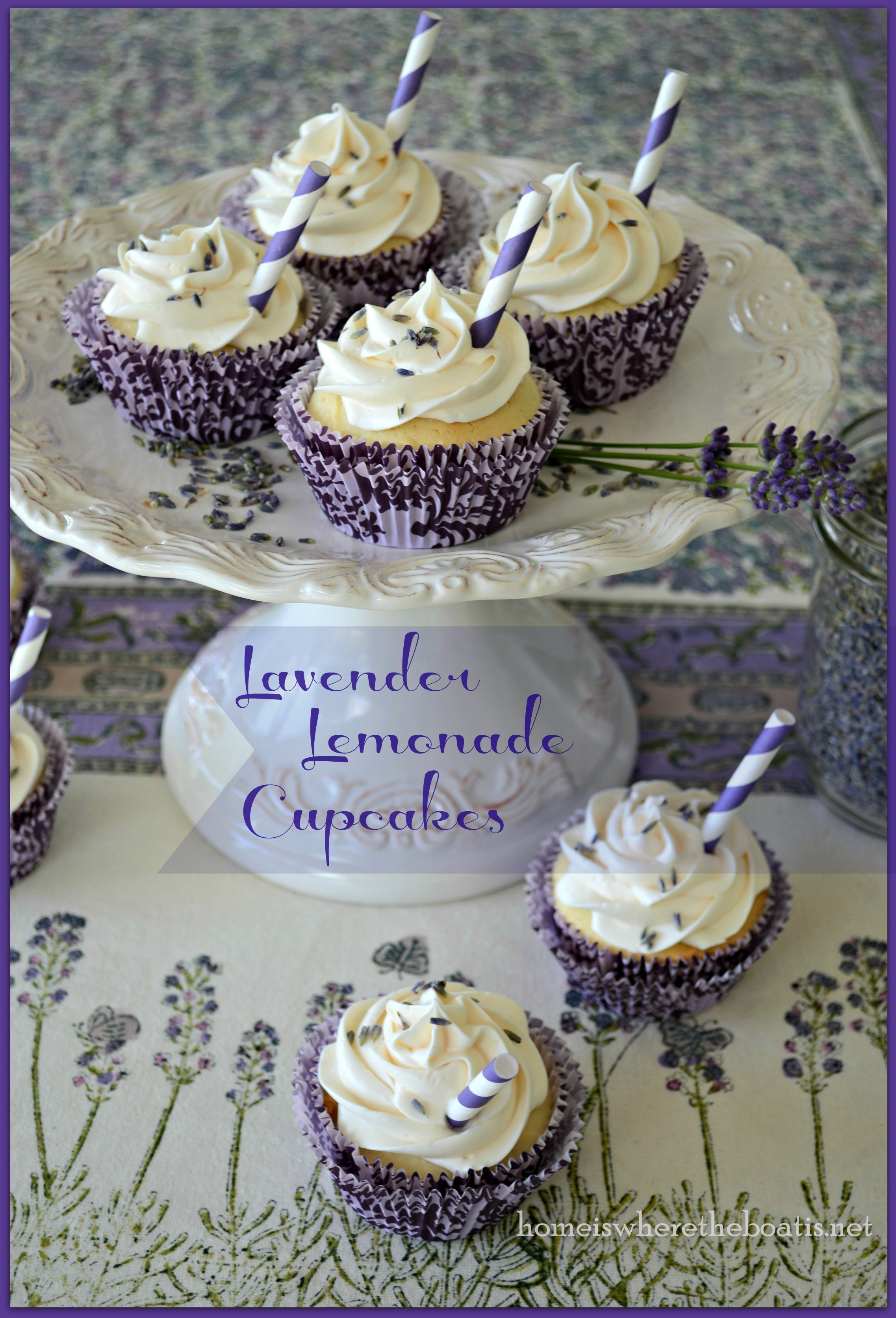 Lavender Lemonade Cupcakes-001 | Home is Where the Boat Is