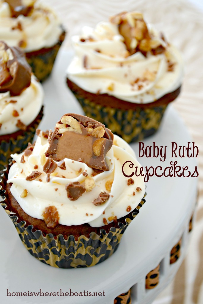 Baby Ruth Cupcakes