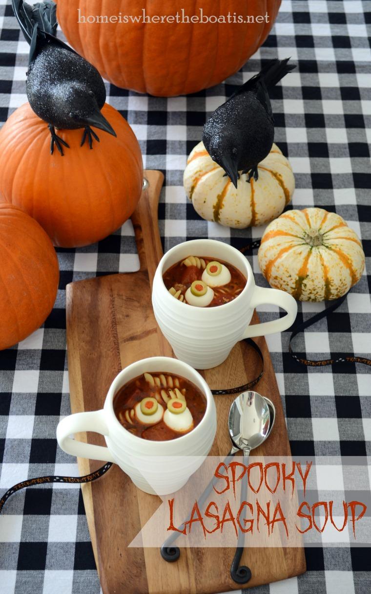 Spooky Lasagna Soup