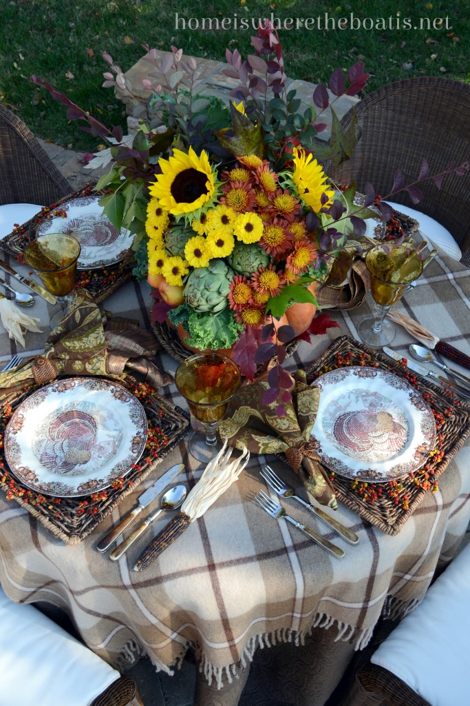 A harvest of fall tablescapes and inspiration home is where the boat is - Interesting tables capes for christmas providing cozy gathering space ...