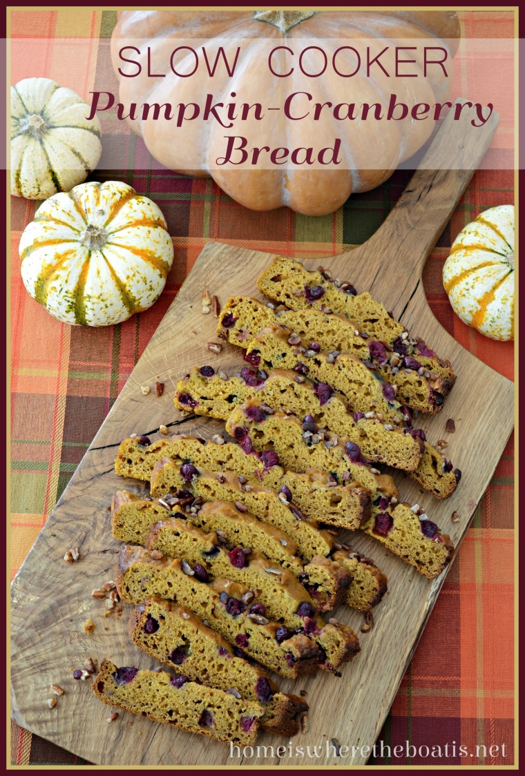 Slow Cooker Pumpkin Cranberry Bread
