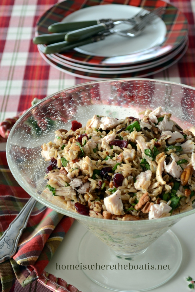 Turkey and Wild Rice Salad with Cranberries and Pecans and ...