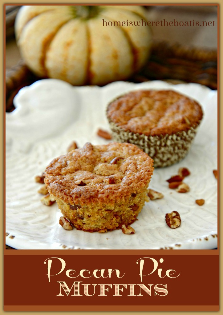 The flavor of Pecan Pie in delicious muffin, no corn syrup required!