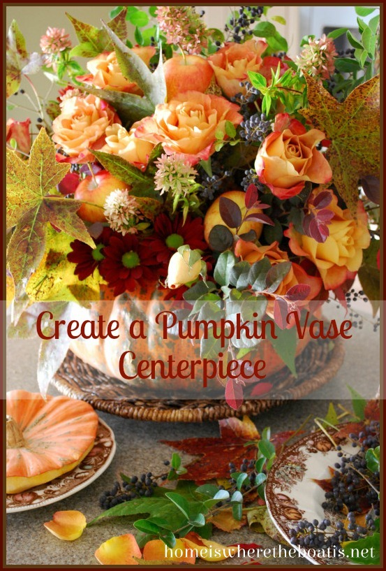 Create a Pumpkin Vase Centerpiece