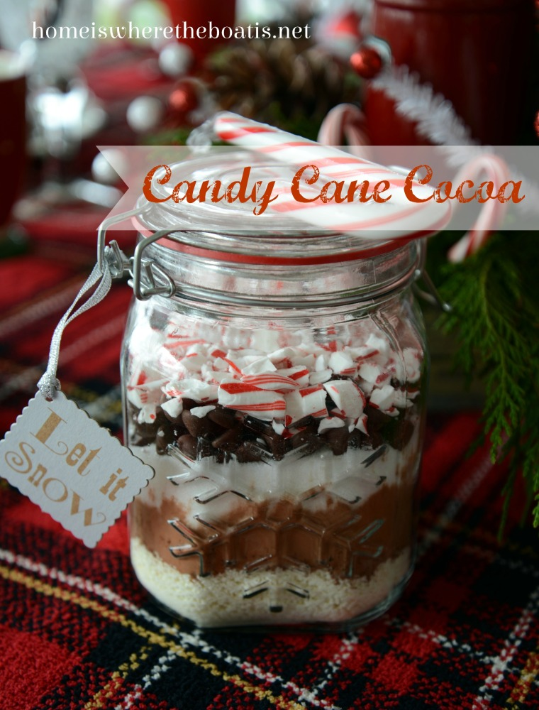 Candy Cane Cocoa Mix A mix for easy seasonal sipping and ideal for gift giving! | homeiswheretheboatis.net