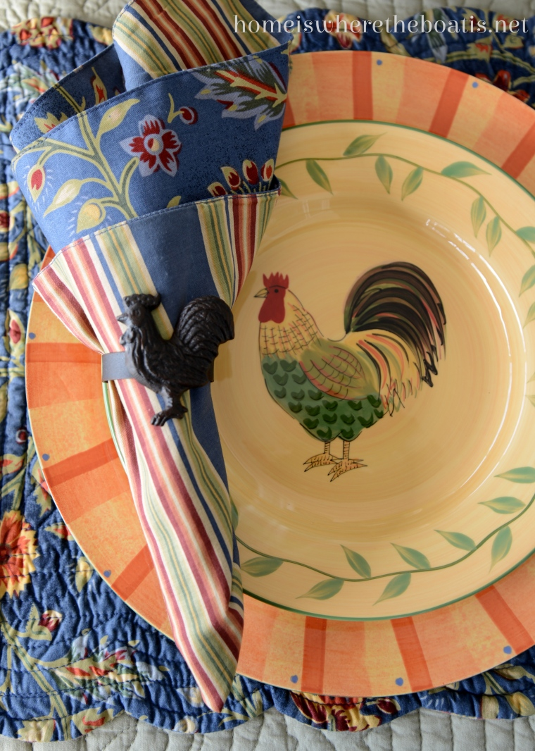 At the Table: Pfaltzgraff Napoli Rooster – Home is Where the Boat Is