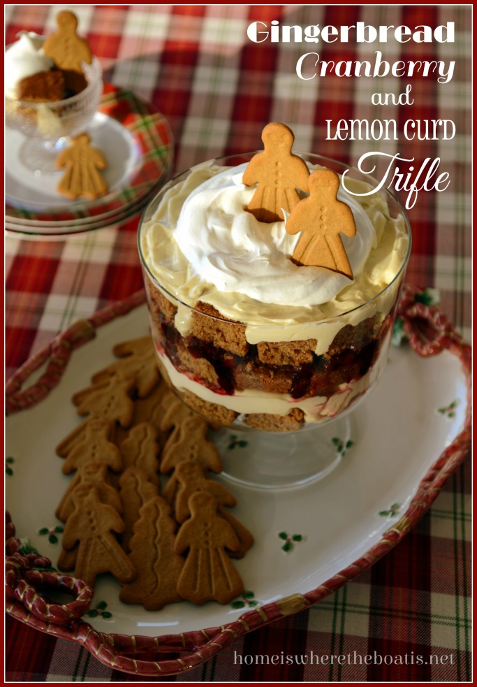 Gingerbread Cranberry & Lemon Curd Trifle