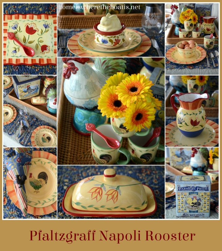 Pfaltzgraff Napoli Rooster Dinnerware – Home is Where the Boat Is