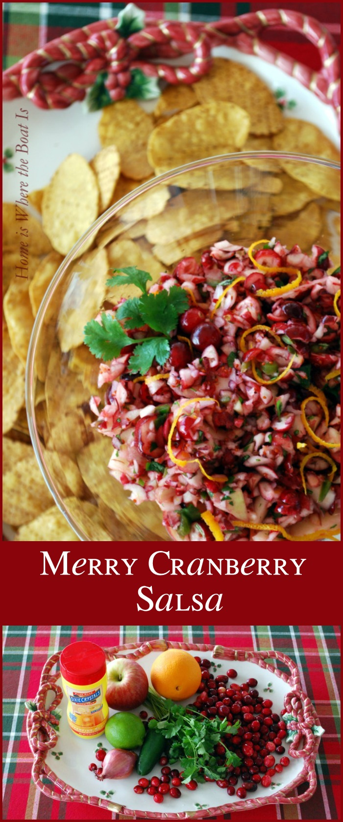 Merry Cranberry Salsa! A light, flavorful, and healthy appetizer for the holidays that comes together in 10 minutes!