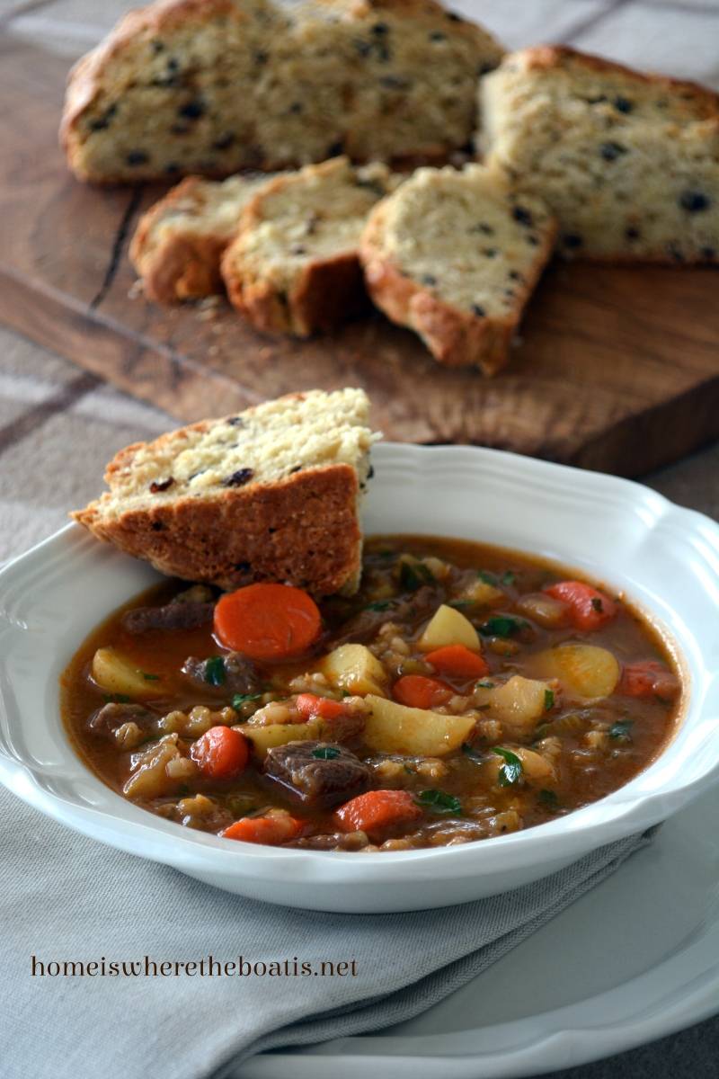Novel Baking: Irish Stew with Soda Bread
