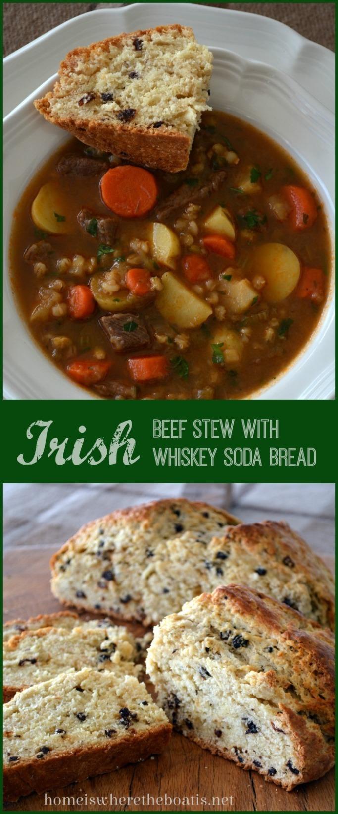 Irish Beef Stew with Irish Whiskey Soda Bread
