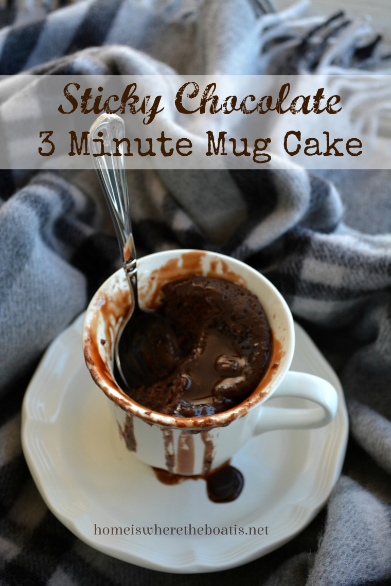 Sticky Chocolate 3 Minute Mug Cake
