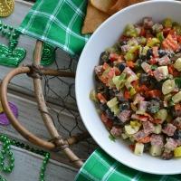 Muffuletta Dip for Mardi Gras
