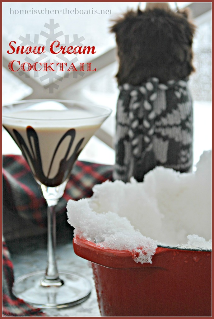 Snow Cream Cocktail