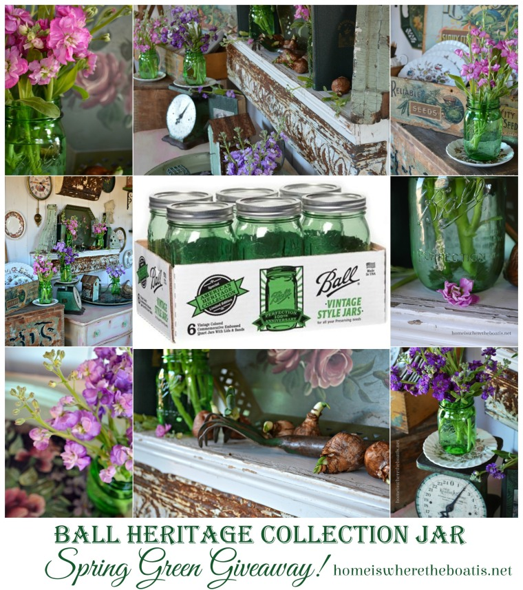 Spring Green Ball Heritage Jar Giveaway Home is Where the Boat Is