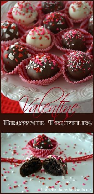 Valentine Brownie Truffles