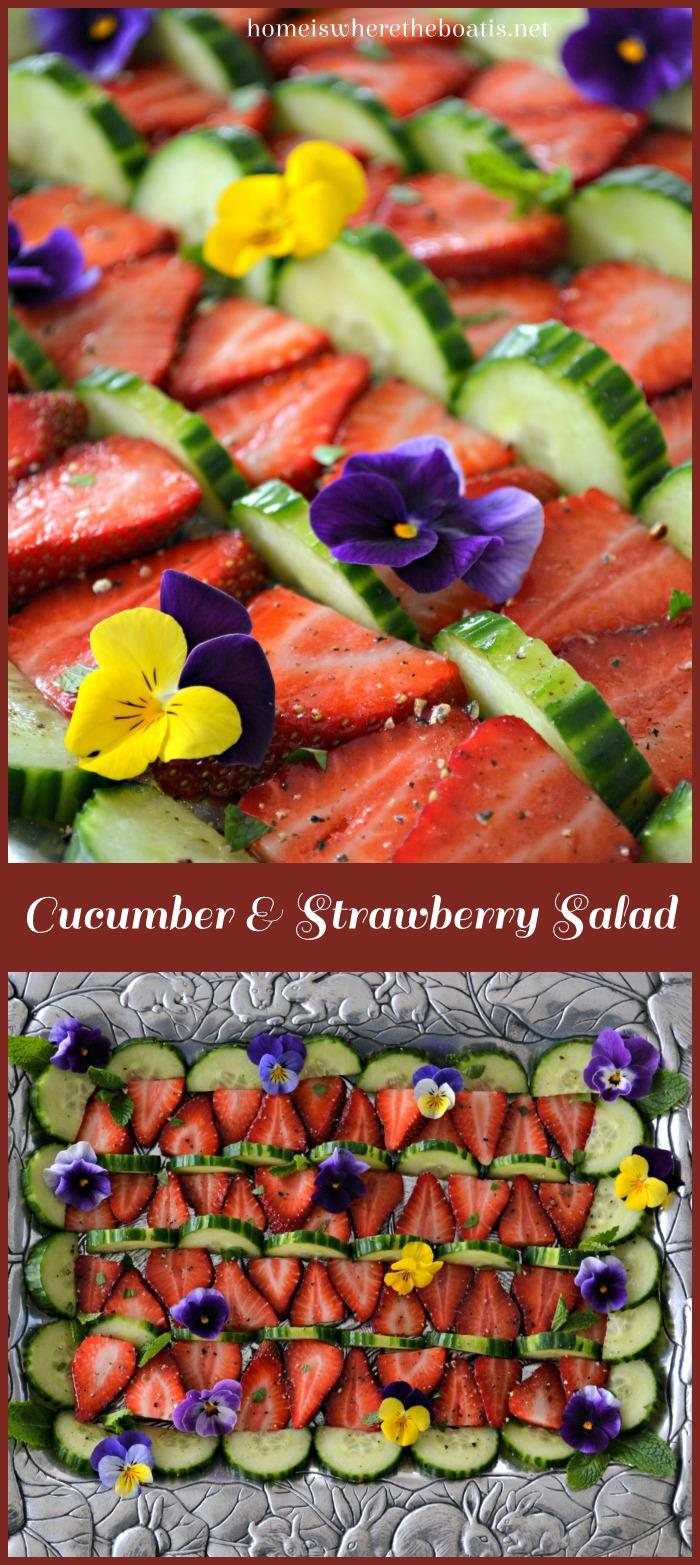Cucumber & Strawberry Salad
