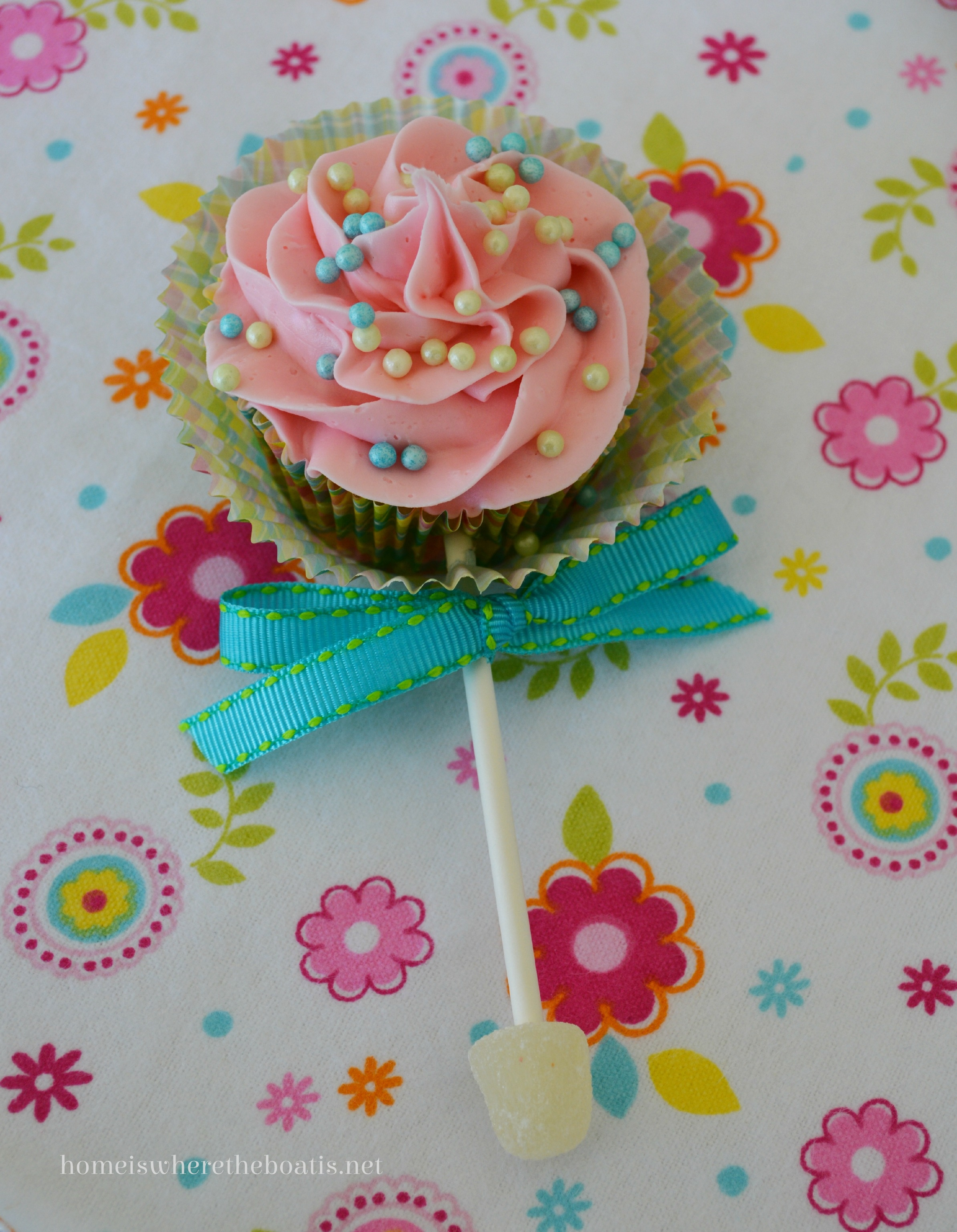 Baby Rattle Cake Decoration : Baby Rattle Cupcakes   Home is Where the Boat Is