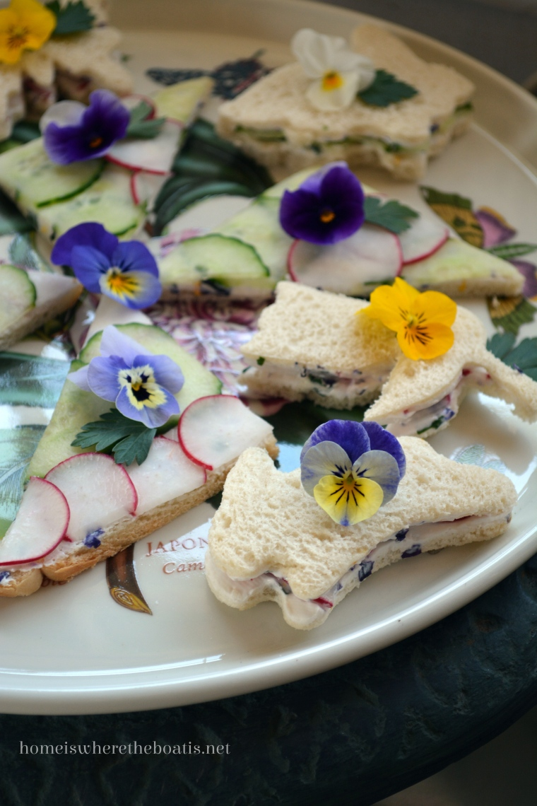 Herbed Cucumber Radish Tea Sandwiches Recipes — Dishmaps