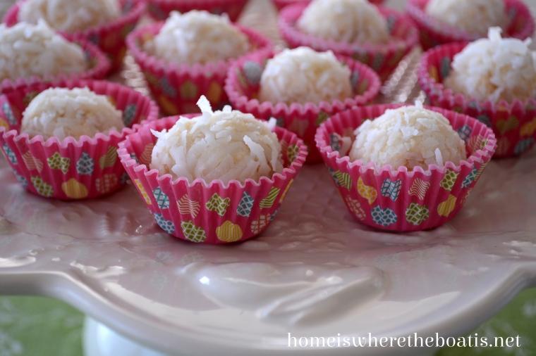bunny tail bonbons aka white chocolate cheesecake truffles