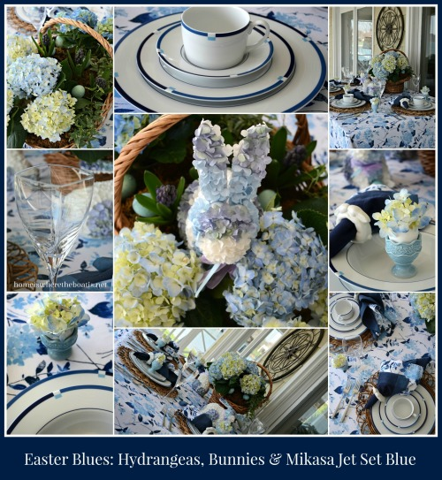 Mikasa Jet Set Blue Easter Table