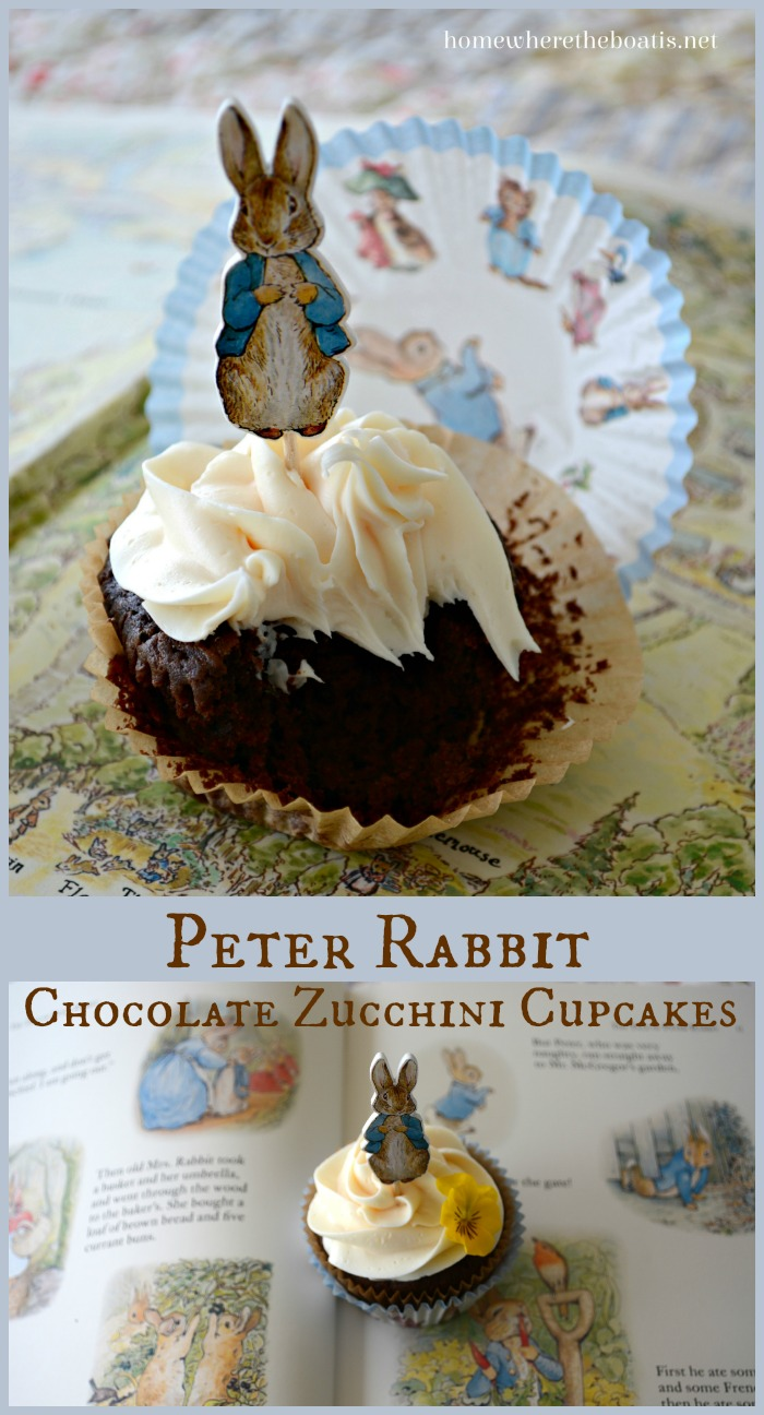 Peter Rabbit Chocolate Zucchini Cupcakes