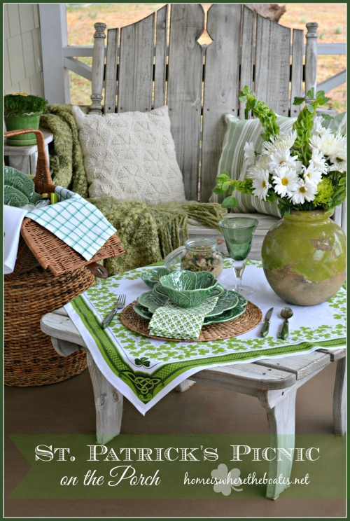 St. Patrick's Picnic on the Porch