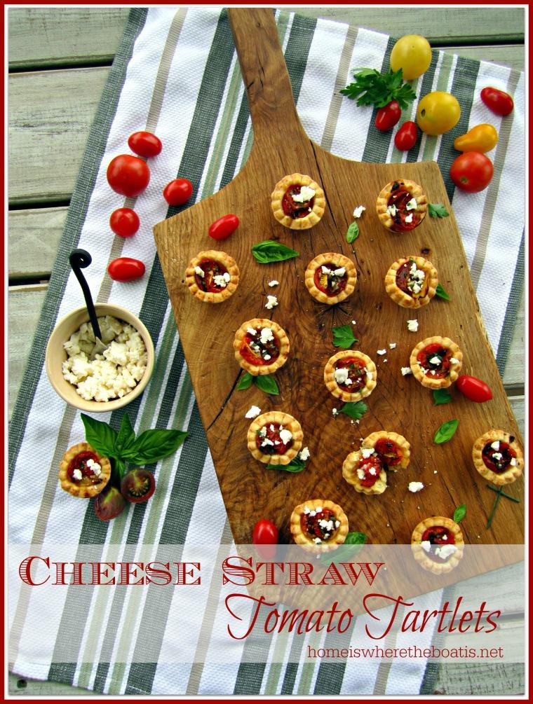 Cheese Straw Tomato Tartlets