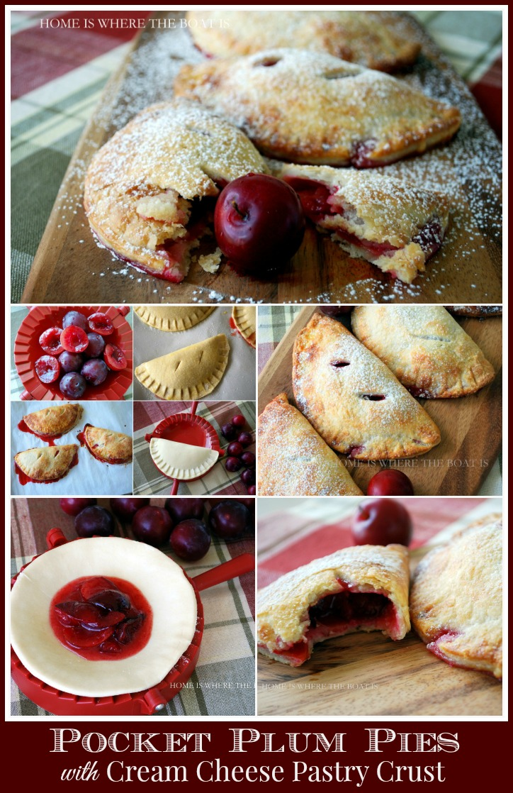 Pocket Plum Pies with Cream Cheese Pastry Crust
